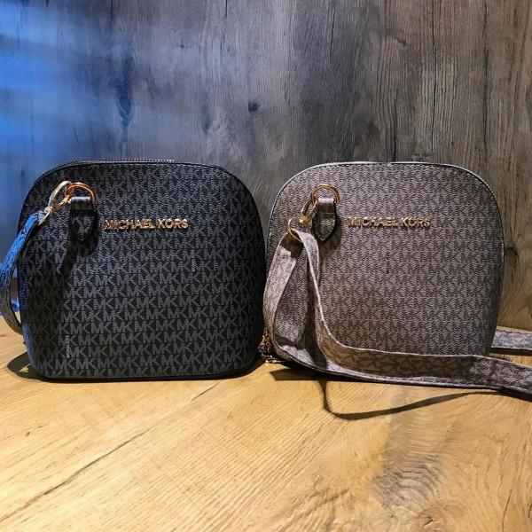 Женская мини-сумочка Michael Kors (Майкл Корс), черный/беж