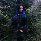Волосы на заколках цвета индиго, фото 5
