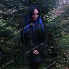 Термо волосы на клипсах синие, фото 6