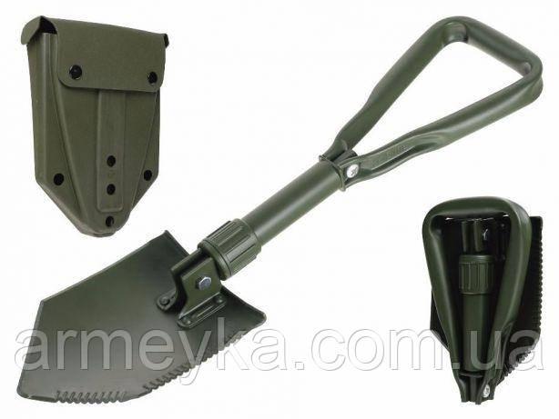 Армейская трехсоставная складная лопатка в футляре. Голландия, оригинал.