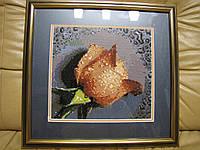 Готовая картина в технике алмазная вышивка Роза