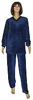 NEW! Классические женские махровые пижамы из однотонной махры - серия Classic Dark Blue вельсофт ТМ УКРТРИКОТАЖ!