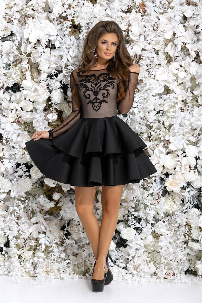 6ac87d688d7 Черное короткое коктейльное платье (M) - Интернет-магазин