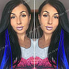 Ярко синие пряди волос на заколках, фото 9