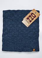Баф синего цвета в клетку, шарф на флисе ozzi