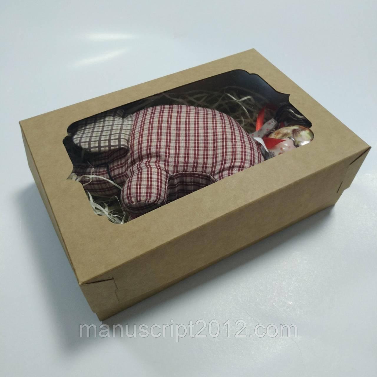 Коробка крафт для подарков и сувениров 250х170х80 мм