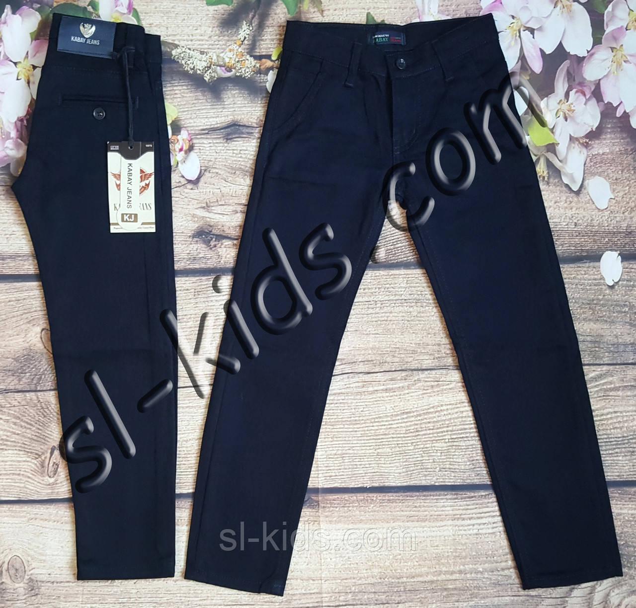 Штаны,джинсы на флисе для мальчика 11-15 лет (Kabay) (темно синие 02) розн пр.Турция