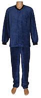 Пижама мужская махровая 18301 Classic Dark Blue вельсофт