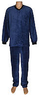 Пижама мужская махровая 18301 Classic Dark Blue вельсофт, р.р.44-58