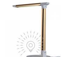 Настольная светодиодная лампа 6Вт LMN085 6000K золото, фото 1