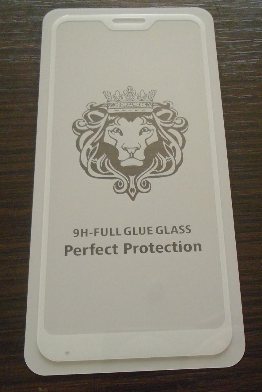 Защитное 5D стекло Xiaomi Redmi 6 white full Screen клей по всей поверхности