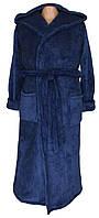 Халат махровый для мальчика подростка 18302 Classic Dark Blue вельсофт, р.р.44-46