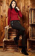 Лосины брючные с кожаными вставками дайвинг на флисе размер 50,52,54,56