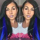 Синє волосся на заколках, фото 8