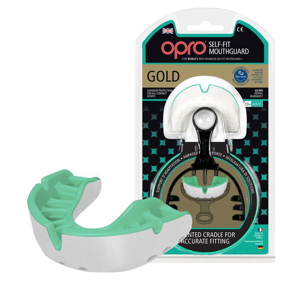 Капа OPRO Gold Series White/Pearl (art.002193006)