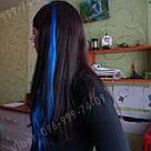 Волосся кольору королівський синій на зажимах, фото 10
