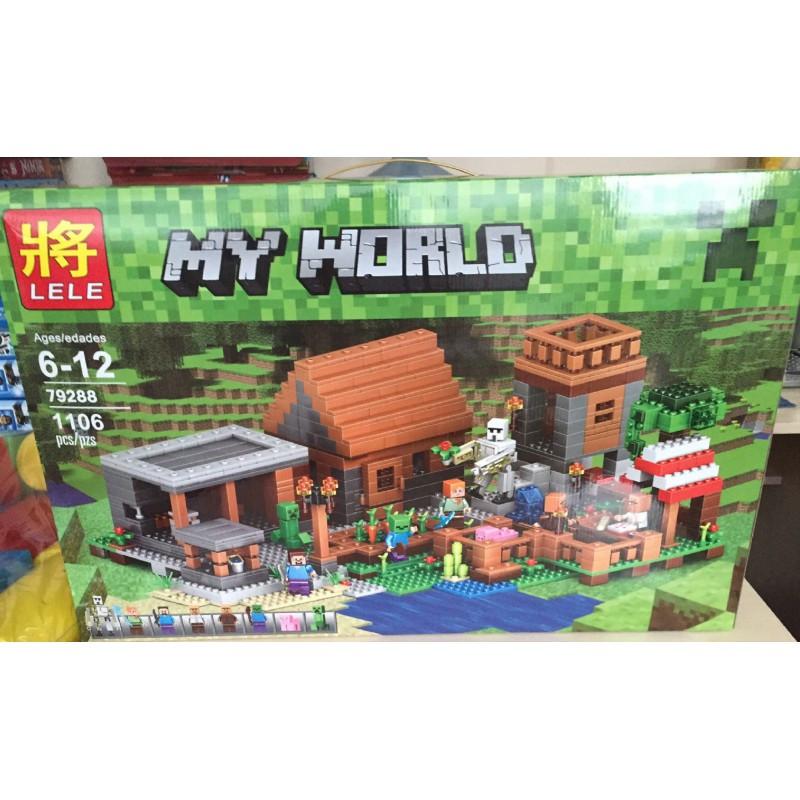 """Конструктор """"Деревня"""" Minecraft Lele 79288 1106 деталей"""