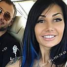 """Кольорові пряді волосся сині як у Ніки з серіалу """"Школа"""", фото 10"""