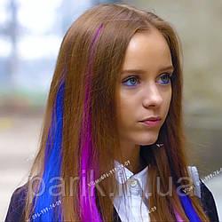 """Кольорові пряді волосся сині як у Ніки з серіалу """"Школа"""""""