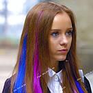 Цветные пряди как у Харли Квинн, Лизы Васыленко - синие, фото 7