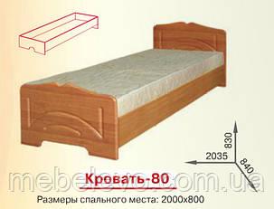 Кровать 80 Гера 830х840х2035мм  80х200 Пехотин, фото 2