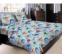 Детское постельное белье полуторное Динозаврики
