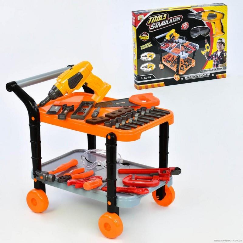 Детский игровой набор инструментов 36778-68 с тележкой