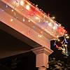Гирлянда Бахрома (сосулька-штора) 120 LED 5mm на прозрачном проводе белый-теплый цвет, фото 2