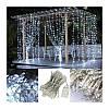 Гирлянда водопад 240 LED 5mm 2м/2м белая на прозрачном проводе, фото 6