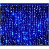 Гирлянда водопад 320 LED 5mm 3м/2м синяя на прозрачном проводе, фото 3