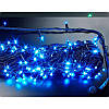 Гирлянда профессиональная светодиодная нить 100 LED 10м на черном проводе уличная цвет синий, фото 5
