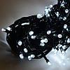 Гирлянда профессиональная светодиодная нить 100 LED 10м на черном проводе уличная цвет белый, фото 3