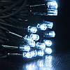 Гирлянда профессиональная светодиодная нить 100 LED 10м на черном проводе уличная цвет белый, фото 4
