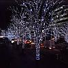 Гирлянда профессиональная светодиодная нить 100 LED 10м на черном проводе уличная цвет белый, фото 6