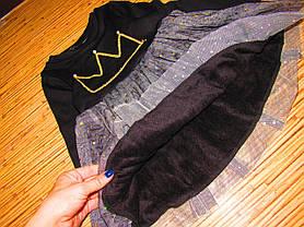 Нарядное детское платье на девочку утепленное на плюше  на 2 года, фото 3