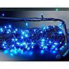 Гирлянда профессиональная светодиодная нить 200 LED 15м на черном проводе уличная цвет синий, фото 3