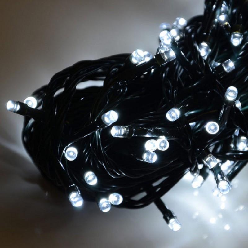 Гирлянда профессиональная светодиодная нить 200 LED 15м на черном проводе уличная цвет белый