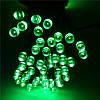 Гирлянда иголка 100 LED 9м зеленая на черном проводе, фото 2