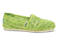 Женские TOMS Neon Lime Crochet Women's Classics, фото 1