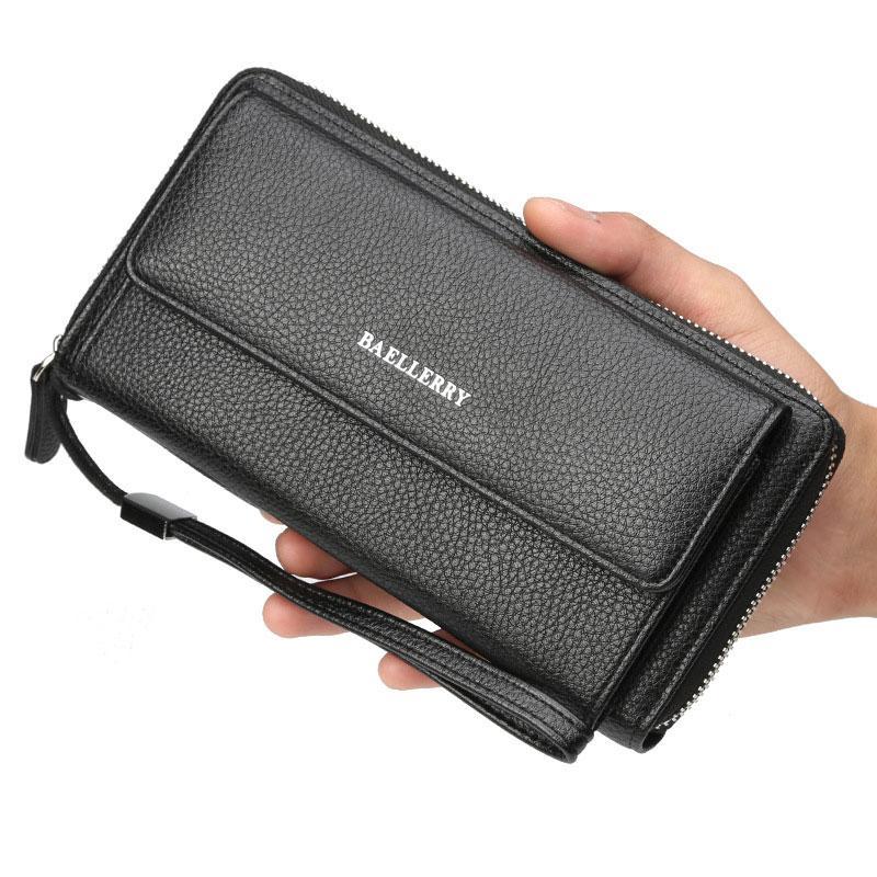 Чоловічий клатч - гаманець Favorit. (чорний)