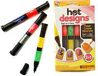 Набор для росписи ногтей  Hot Designs - гель лак для ногтей, фото 1