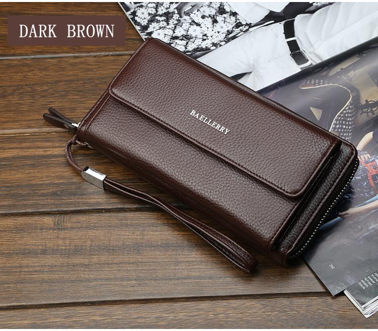 Чоловічий клатч - гаманець Favorit. (коричневий)
