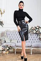 Кожаная женская юбка Карина - модный хит