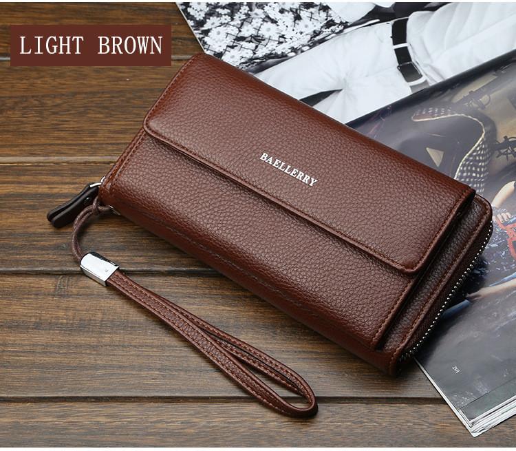 Чоловічий клатч - гаманець Favorit Світло-коричневий