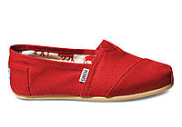 Женские TOMS Red Canvas Women's Classics