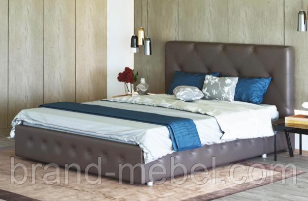 Ліжко двоспальне у м'якій оббивці Хлоя / Кровать двуспальная в мягкой обивке Хлоя
