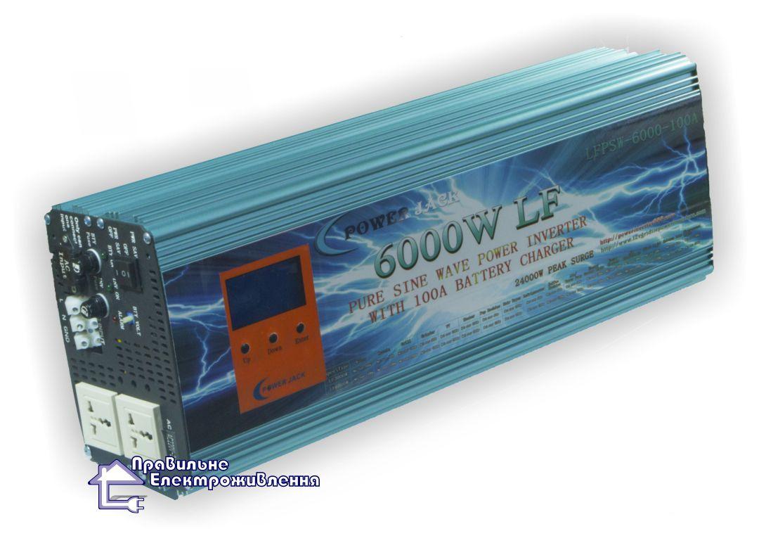 Інвертор напруги (ДБЖ) Power Jack 6000W-100A