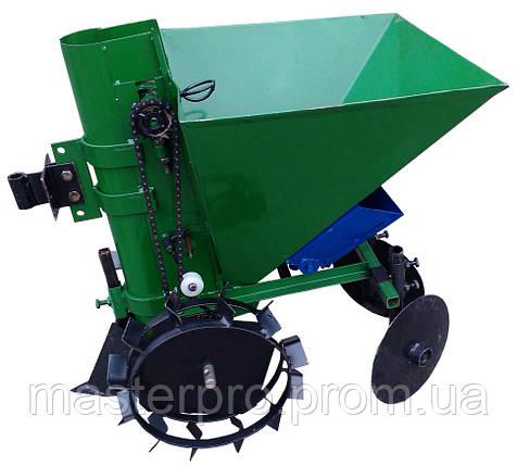 Картофелесажатель мотоблочный  П-1ЦУ (зеленый), фото 2
