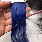Тёмно синие волосы на заколках, фото 3