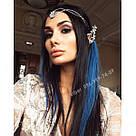 Тёмно синие волосы на заколках, фото 7